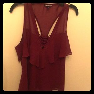 😘Express Burgundy Tank💋 One of a kind!